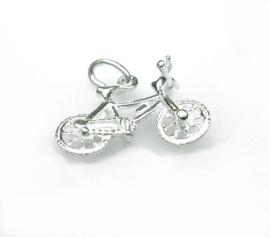 zilveren mountainbike