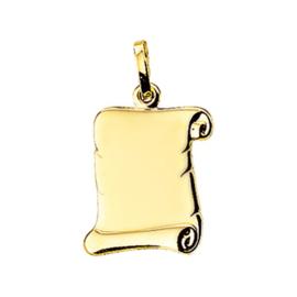Gouden Graveerplaatje Perkament