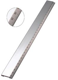 Verzilverde liniaal 30 cm.