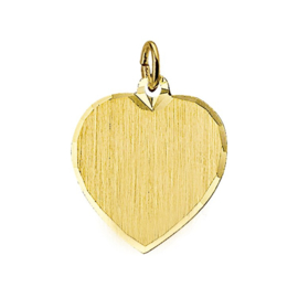 Graveerplaatje hartje goudgra