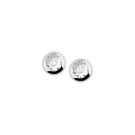 zilveren stekers met CZ