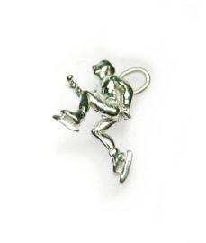 zilveren schaatser wedstrijdschaatser