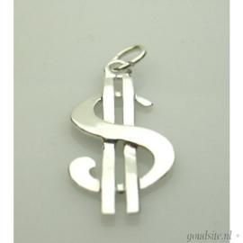 zilveren dollarteken