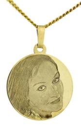 Gouden Fotomunt met vlakgravure