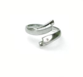 Zilveren ring met diamant 0.02