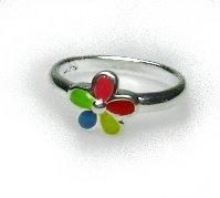 zilveren ring kinderring bloem