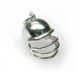 zilveren cricket helm