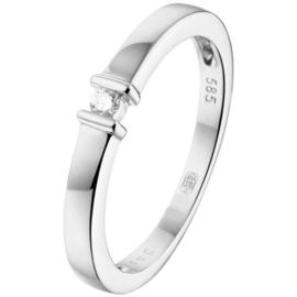 Witgouden ring met briljant 0.03 crt