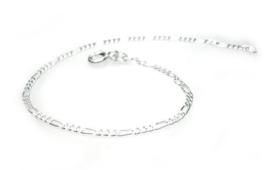 smalle zilveren figaro armband