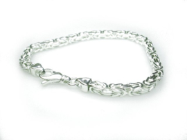 Zilveren Koningsschakel-armband