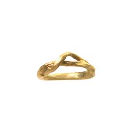 """Gouden ring """"takje"""""""