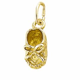 Gouden babyschoentje hanger/bedel