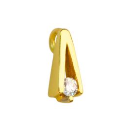 Gouden hanger met briljant 0.08crt