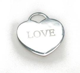 zilveren hartje Love