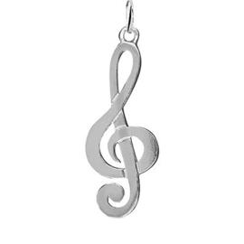 Hanger zilver vioolseutel