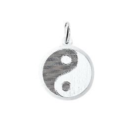 zilveren yin en yang teken klein