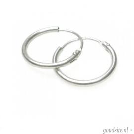 zilveren oorbellen creolen