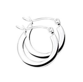 zilveren oorbellen creool vlak