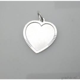 zilveren hartje rand