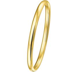 Gouden Slavenarmband scharnier 5mm.