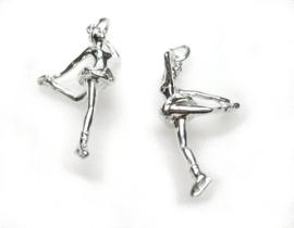 zilveren schaatser danseresje