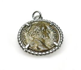 zilveren hangertje bronzen munt