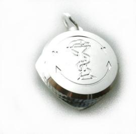 zilveren Sos hanger