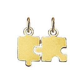 Gouden breek puzzel hanger