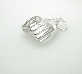 zilveren honkbalhandschoen