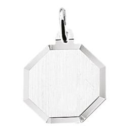 zilver graveerplaatje achthoek