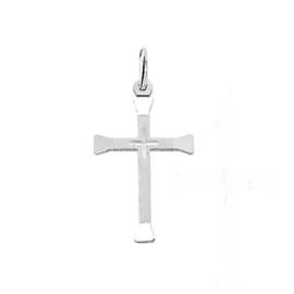 zilveren hangertje kruis