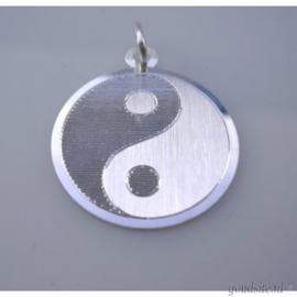 zilveren Yin en Yang teken groot