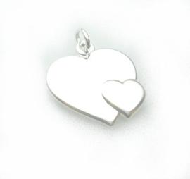 zilveren hartjes