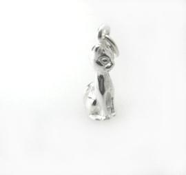 Zilveren Kat zittend