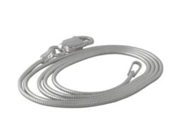 Zilveren slangcollier 2 millimeter dikte.