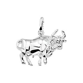 Zilveren hanger sterrenbeeld stier