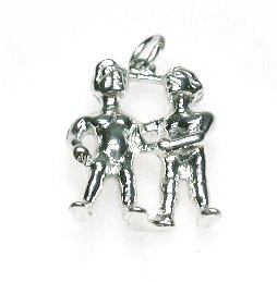 zilveren sterrenbeeld tweeling hangertje