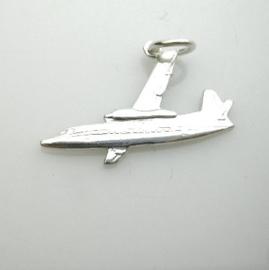 zilveren vliegtuig Fokker