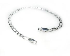 zilveren figaro armband