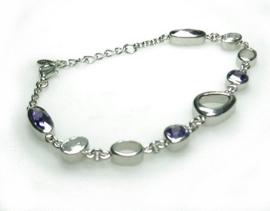 zilveren armband met amethyst en cubic zirconia