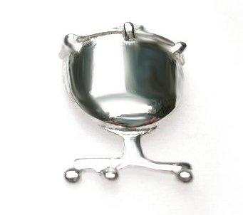 zilveren pauk hanger