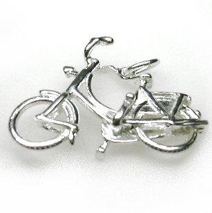 zilveren Omafiets