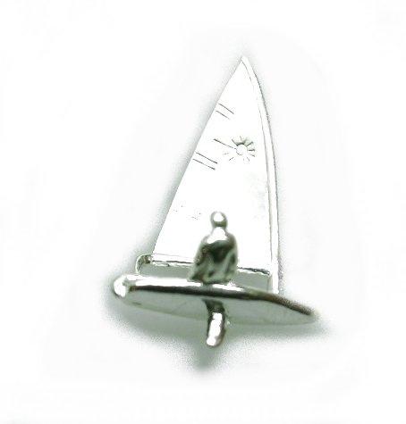 zilveren Zeilboot Laser