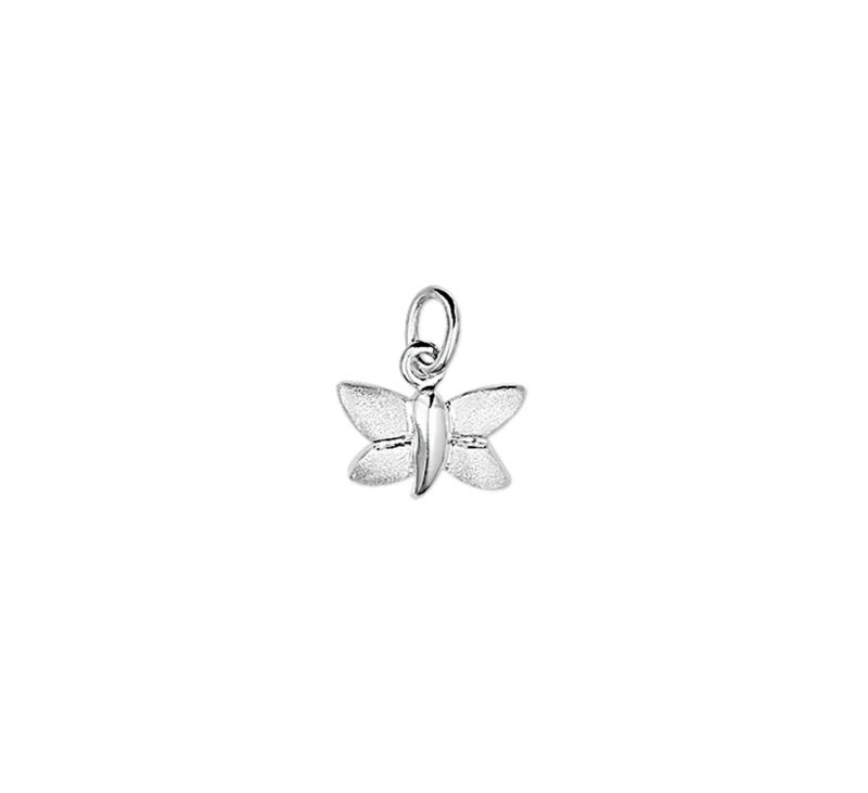 zilveren vlinder bedeltje