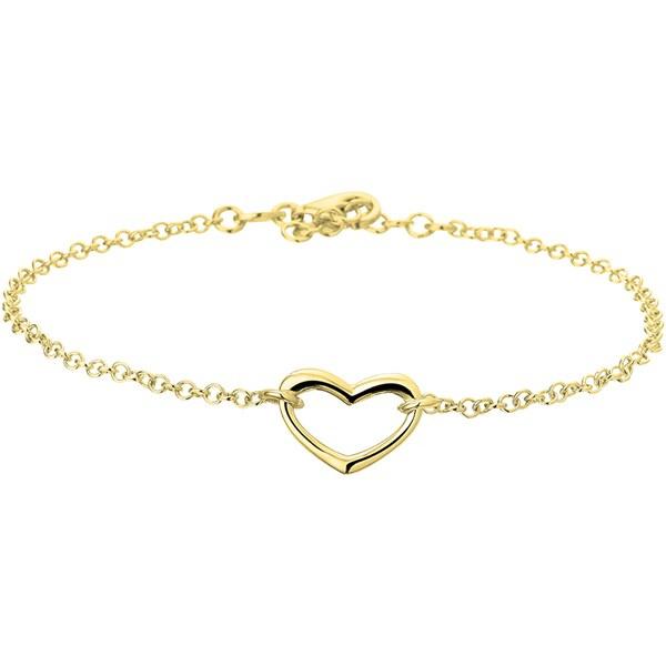 Enkelbandje hart 2,1 mm 24 + 2 cm Gold plated