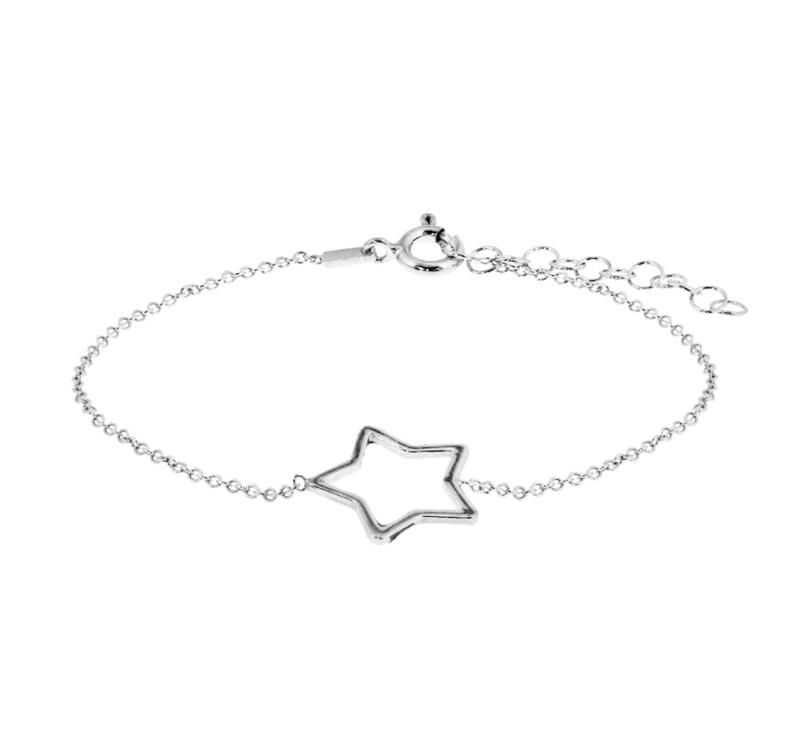 zilver armbandje met ster
