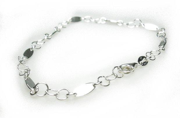 Zilveren enkelbandje