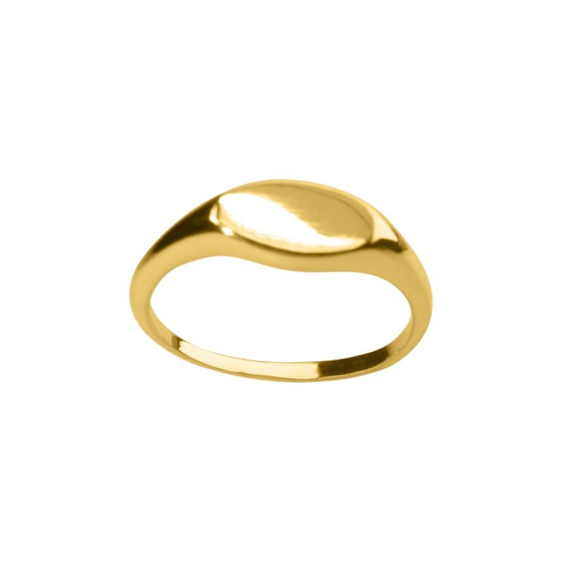Gouden signet ring