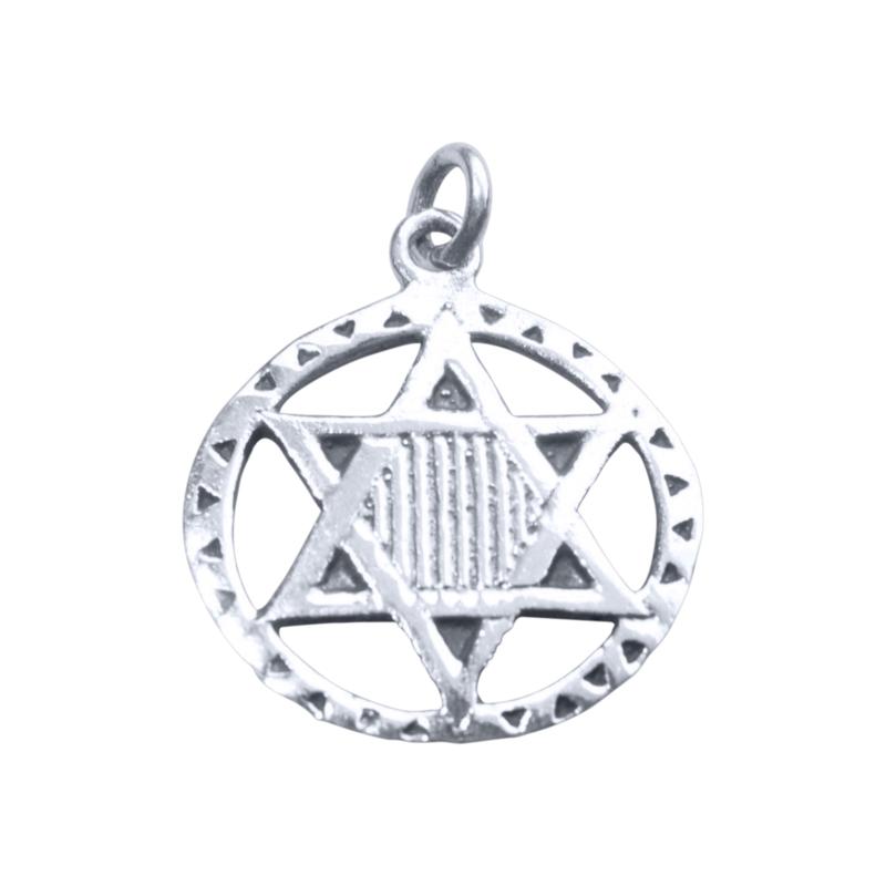 Zilveren hexagram