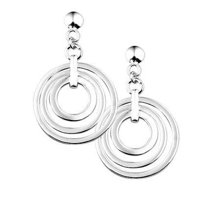 zilveren oorbellen Rondjes